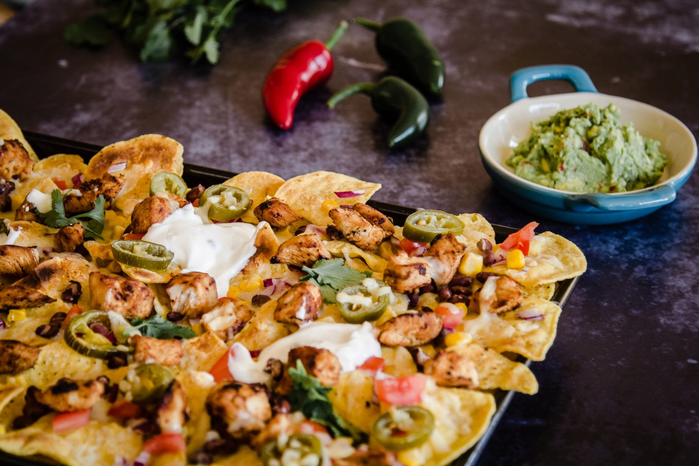 Recipe for Tequila Chicken Nachos