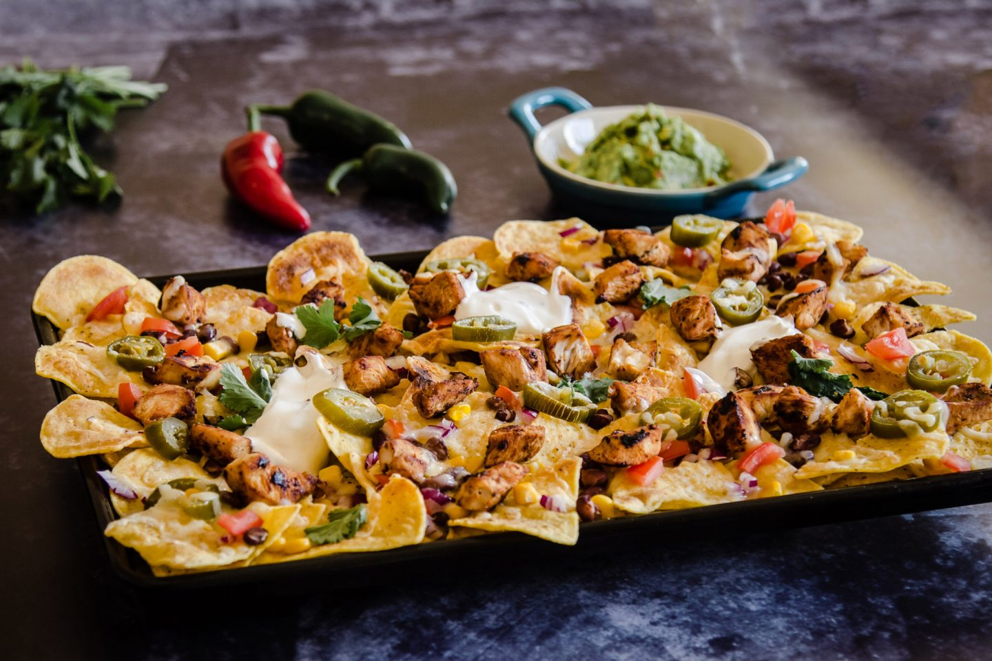 Tequila Chicken Nachos recipe