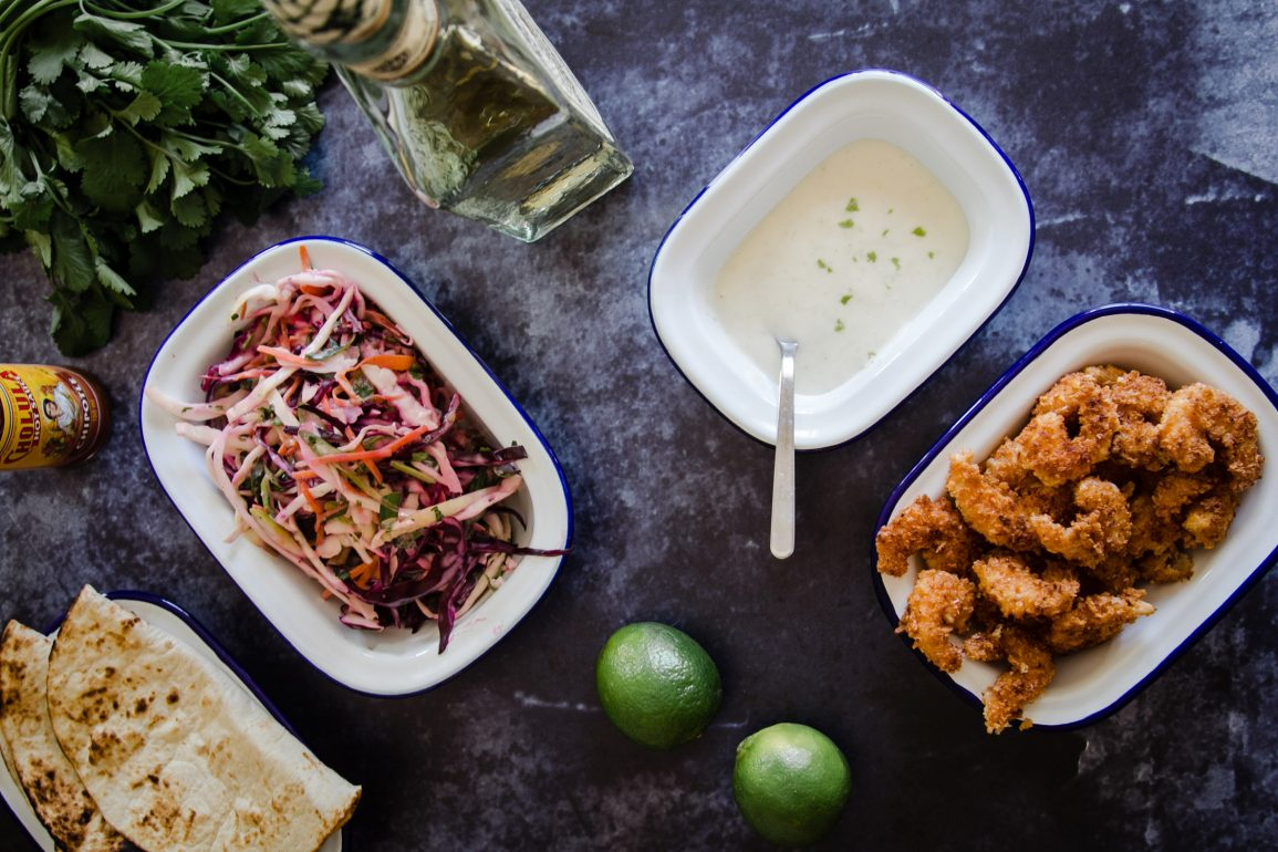 Crispy Coconut Prawns with Tequila Lime Mayo